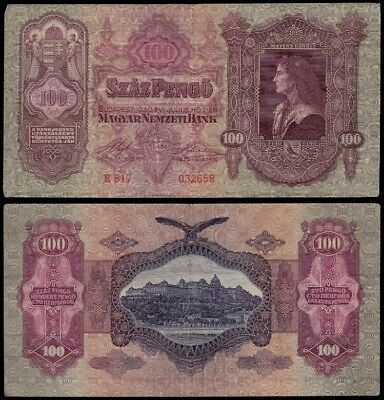 HUNGARY 100 Pengo, 1930s, P-98, World Currency