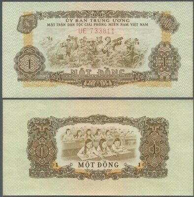 SOUTH VIETNAM 1 Dong, 1966, P-R4, World Currency