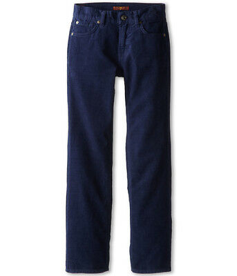 7 Seven for All Mankind Slimmy Straight Corduroy Jeans Big Boys in Navy NWT