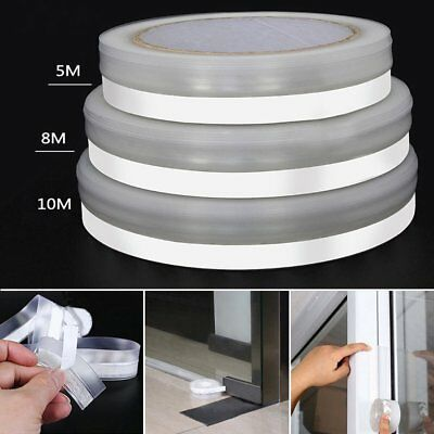 Weather Stripping Self Adhesive Door Windows Silicone Draft Stopper Seal Strip