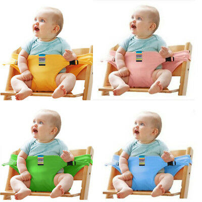 UK STOCK Portable Baby High Chair Booster Safety Seat Strap Harness Seat Belt J