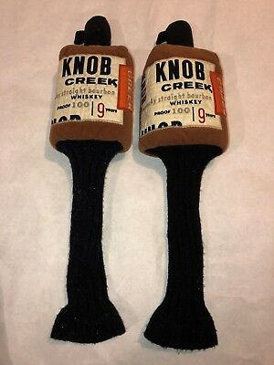 RARE Knob Creek KENTUCKY Straight BOURBON WHISKEY Proof 100 GOLF CLUB Headcovers