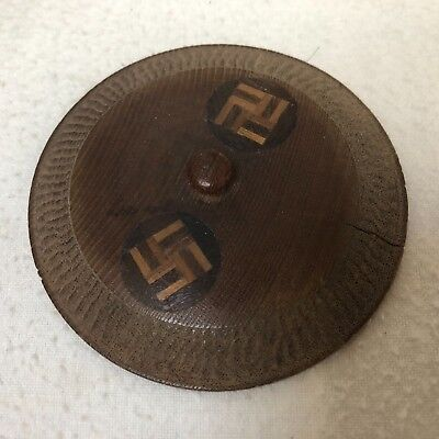 Vintage Hand Carved Wooden NAVAJO Box WHIRLING LOGS