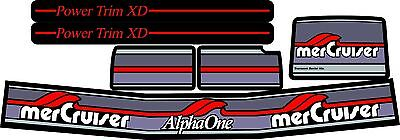 Mercruiser The Alpha One Gen.two Original Colors Decals W/red Trims Set