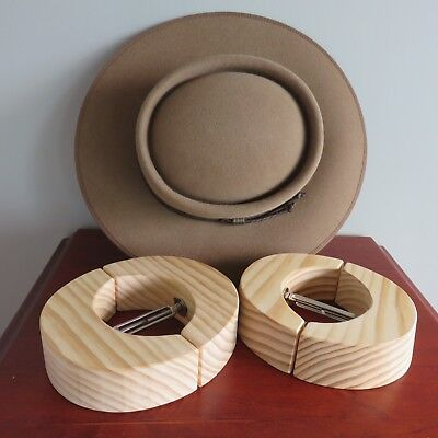 "NEW Akubra ""Pastoralist"" hat - size 55 cm FAWN BROWN  .and Pine Hat Stretchers,"