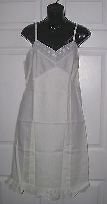 Women's Medium Vintage Cotton Slip Size 36 Bust Adjustable Straps New