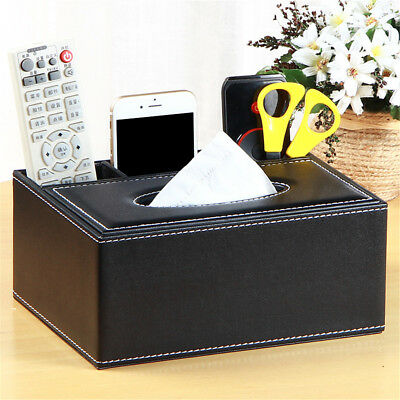 Multifunctional Home Tissue Box Cover Car Napkin Case Holder Storage Organiser