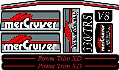 Mercruiser The New Most Complete Trs Decals Set W /red Trims Set