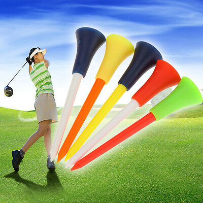 50 x 83mm Rubber Top Golf Tees Tools Multicolor Plastic Rubber Practice Trainer