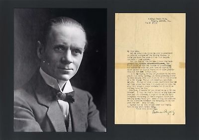 Norman Angell NOBEL PEACE PRIZE autograph, typed letter signed & mounted
