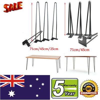 4x HAIRPIN LEGS - 12MM RODS - POWDER COATED 25cm 45cm 71cm PREORDER from AUS