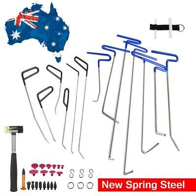 PDR Tools Puller The Spring Streel Rods Paintless Dent Removal Hail Repair Set