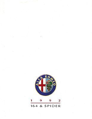 Alfa Romeo 164 &  Spider • 1992 • Brochure • English USA Market  • EXCELLENT