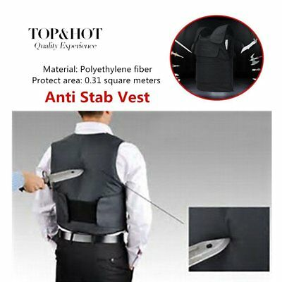 Anti Stab Vest Stabproof Anti-knifed Security Defense Body Armour Men Vest #R