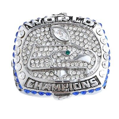 Superbowl Ring Seattle Seahawks 2013 American Football Wilson