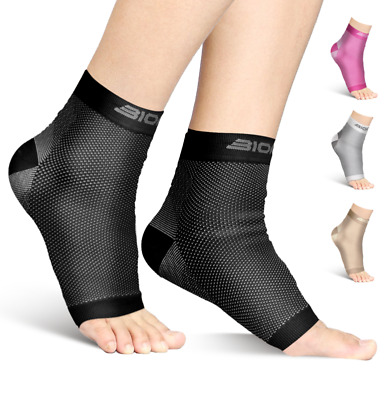 Plantar Fasciitis Compression Socks Heel Foot Arch Night Splint Support Insoles
