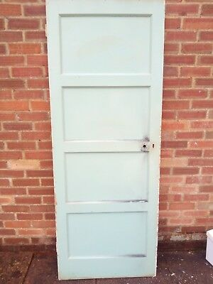 reclaimed doors 4 panel 1950s (8 available ) & RECLAIMED DOORS 4 panel 1950s (8 available ) - £40.00 | PicClick UK
