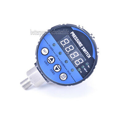 Digital Pressure Switch,2 Relay Output or 0 to -0.1Mpa Air Negative Vacuum Type
