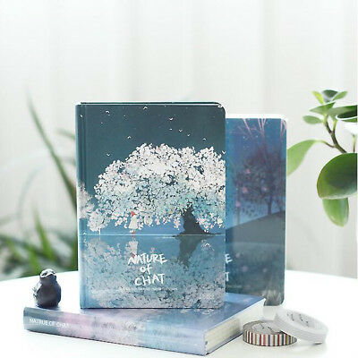 """Nature Chat"" 1pc Hard Cover Cute Journal Diary Blank Papers Notebook Notepad"