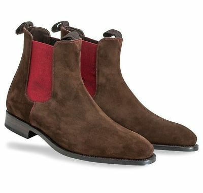 MEN CHELSEA CASUAL Brown Leather Ankle Zipper Boots,Ankle