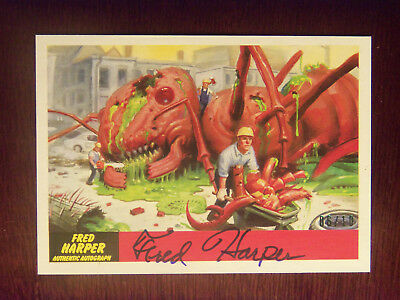 2017 Topps Mars Attacks The Revenge! Fred Harper AUTOGRAPHED Card #6 #06/10 RARE