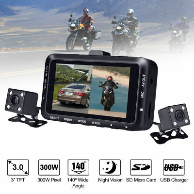 Mouse over image to zoom 3-0-034-TFT-Motorcycle-Car-Driving-Recorder-DVR-Dual-L