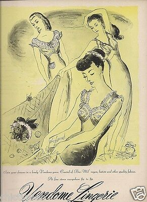 1945 VENDOME Womens NIGHTGOWNS Spin Your Dreams Theme Vintage LINGERIE print Ad