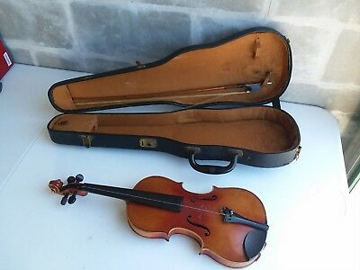 3/4 joh strauss jr wien amati antique violin very old with hardcase 13 inch body