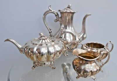 James Dixon & Sons Vintage Silver Plated Tea & Coffee Service/Set