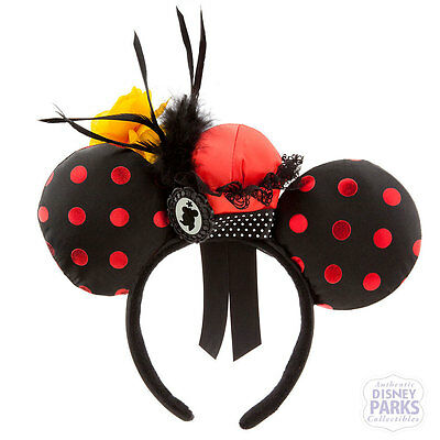 Disney Parks Minnie Mouse Ear Headband - Minnie Flower Pot Hat Polka Dot Ears