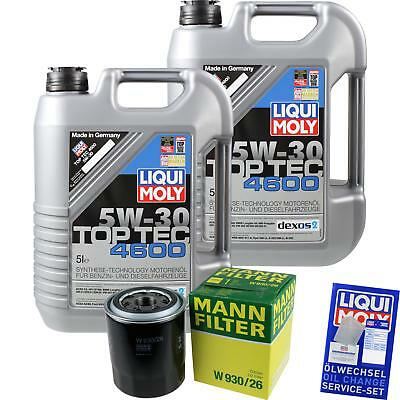 MANN-FILTER KIT CAMBIO ACEITE 10l LIQUI MOLY 3756 TOP TEC 4600 5w-30 mlm-9782158