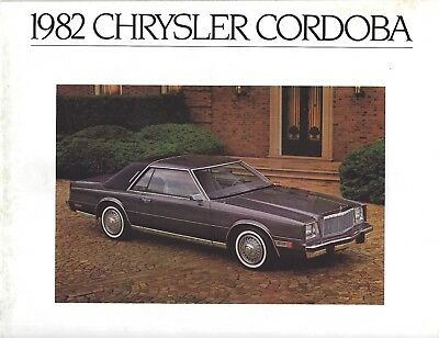 Chrysler Cordoba • 1982 • Brochure Prospekt • USA English • VERY GOOD