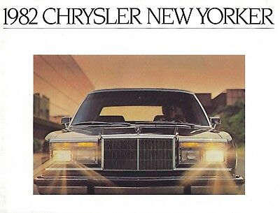 Chrysler New Yorker • 1982 • Brochure Prospekt • USA English • VERY GOOD