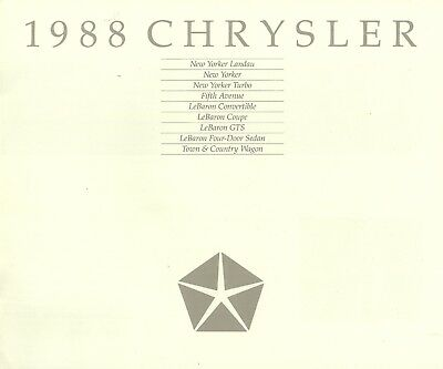 Chrysler All Models • 1988 • Brochure Prospekt • USA English • EXCELLENT