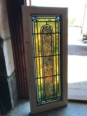 Sg 2022 Antique Stainglass Three-Dimensional Window 14.5 X 35.5
