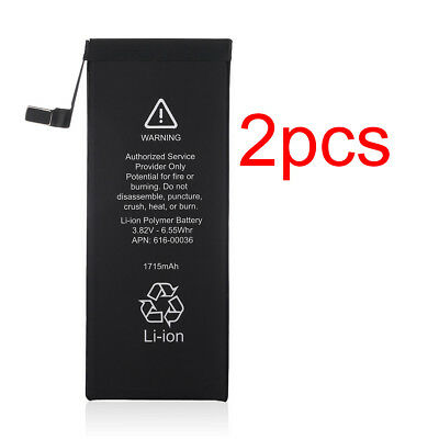 2PCS 1715mAh 3.82V Li-ion Internal Battery Replacement For Apple iPhone 6s 4.7""