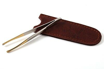 Solingen Germany Professional Tweezer with case tool Eyebrow Hair slant Tweezers