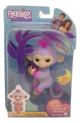 Fingerlings Two Tone Baby Monkey Sydney Interactive Toy Authentic - #3721