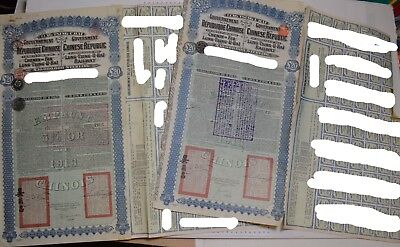 2 x Chinese bond LTUH 1913 (super petchili) with coupons, very good price!!!