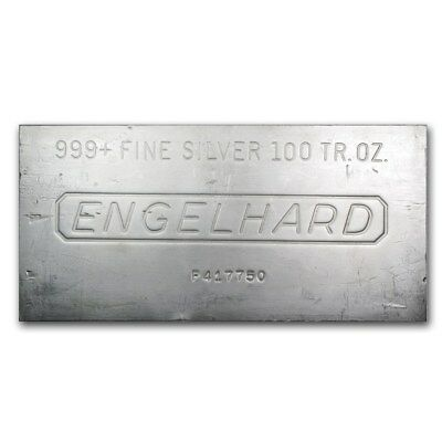 100 oz Engelhard Silver Bar - SKU #166597
