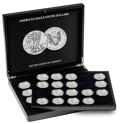 America Silver Eagle Coin Presentation Case Gift Box Lighthouse New Free US S&h