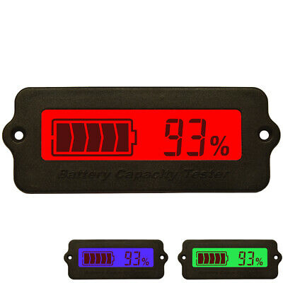 Lead-Acid Lithium Battery Capacity Tester Indicator 12V-48V Digital LCD Display