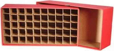 Cent Coins Tube Storage Box Heavy Duty Hold 50 Tubes / Wrapped Rolls RED
