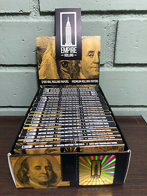 Empire Benjamin Rolling Papers (10 WALLETS x 10) $100 Dollar Bill + Filter Tips