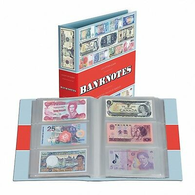 Banknotes Album Currency Collection Lighthouse New Paper Money Binder Free US