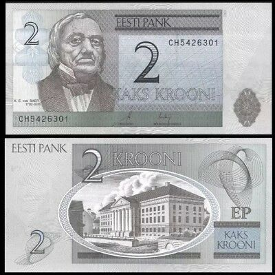 ESTONIA 2 Krooni, P-85b, 2007, UNC World Currency
