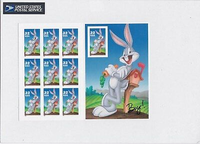 Us Scott #3137 1997 32 Cents Bugs Bunny 10 Stamp Sheet