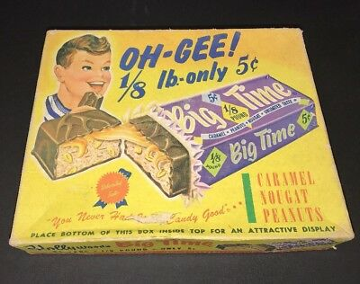 Hollywood's Big Time Candy Bar Old Vintage Empty Box Hollywood Brand
