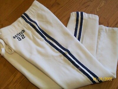Abercrombie Kids-White Knit - Fleece Lined - Athletic /training /jog Pants Large