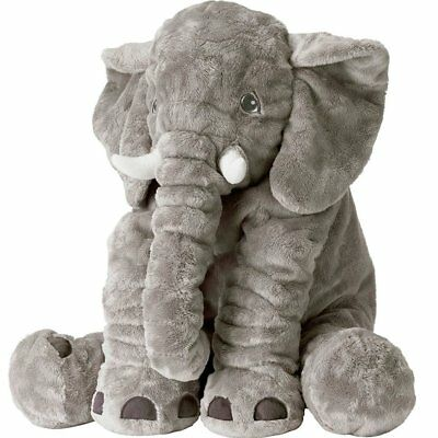 XXL Stuffed Animal Elephant Toy Plush Pillow grey 24 inch Kids New